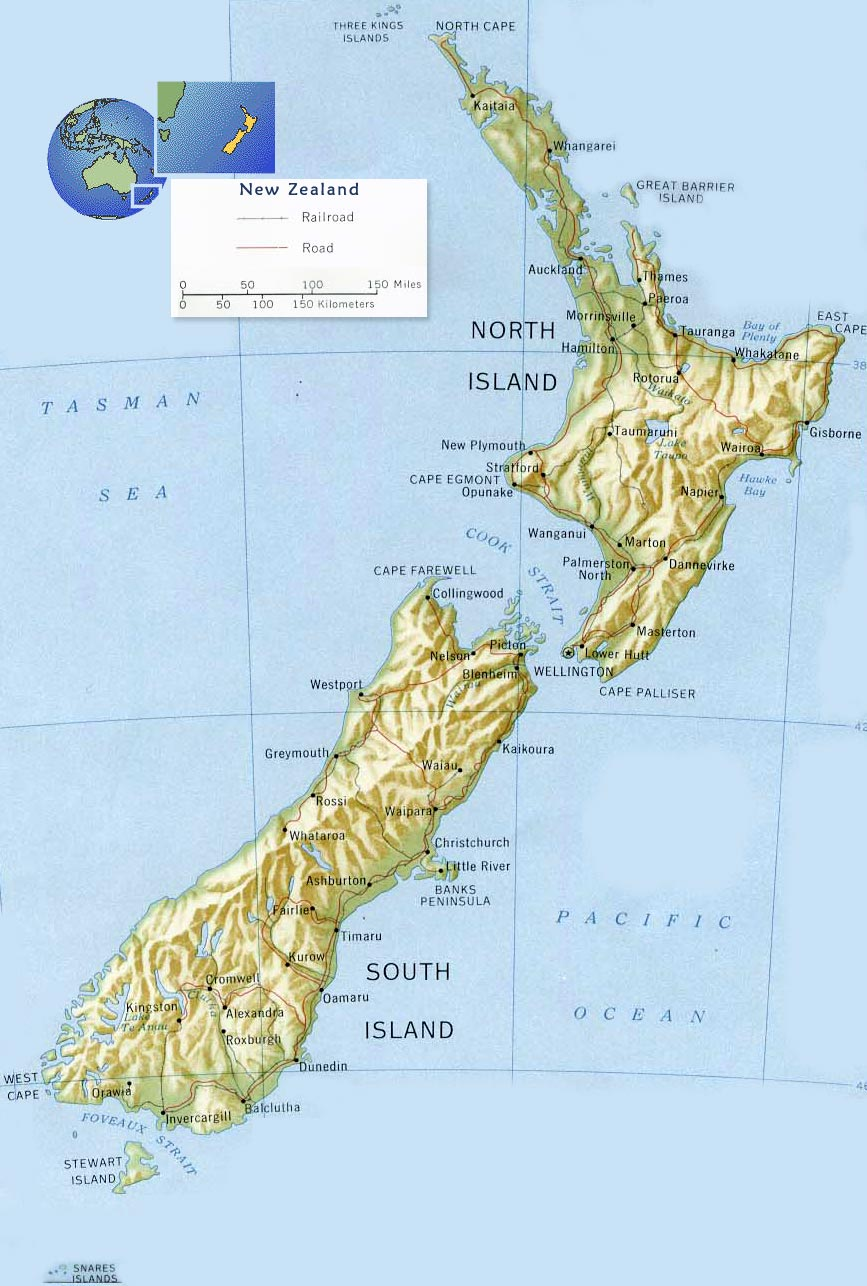 Destination New Zealand Tourism at Cashmere High School – Tourist Map of New Zealand